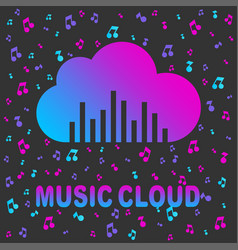 cloud music cloud logo logo template vector image