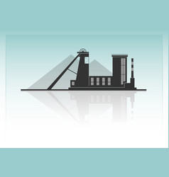 coal mining vector image