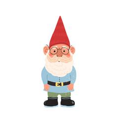 Colorful cute garden gnome vector