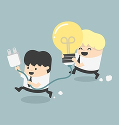 Concept Cartoons Business get an idea vector image