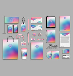corporate identity template set with abstract vector image