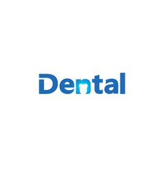 creative dental care clean blue teeth logo design vector image