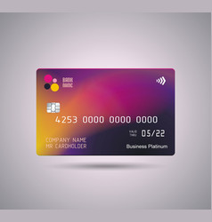 Credit card bright purple design vector
