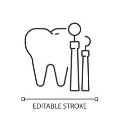 Dentistry linear icon vector