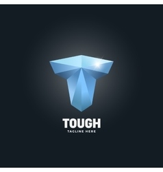 Diamond Tough Letter T Abstract Emblem vector