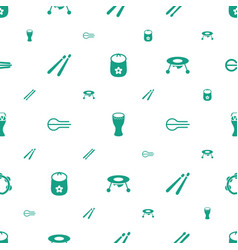 drum icons pattern seamless white background vector image