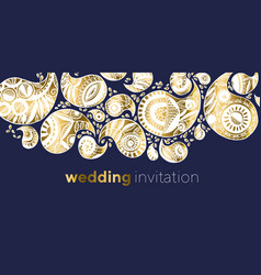 elegant luxury paisley for wedding invitation vector image