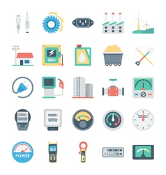 Energy and Power Icons 6 vector