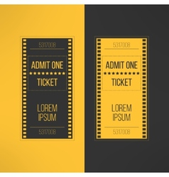Entry cinema ticket in film footage style Admit vector