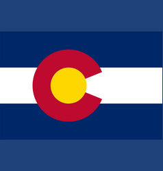 flag state colorado vector image