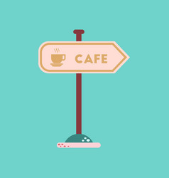 flat icon on background cafe sign vector image