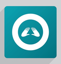 flat massage icon vector image