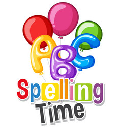 Font design for word spelling time with colorful vector