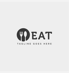 Food equipment spoon fork logo template icon vector