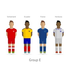Football teams Group E - Switzerland Ecuador vector