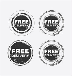 free delivery stamp 2 vector image