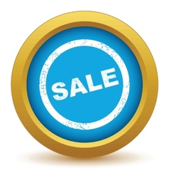 Gold sale icon vector image