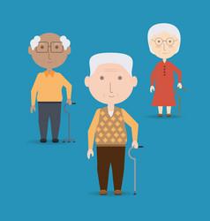 Grandparents cartoon design vector