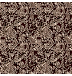 Hand draw ornate seamless flower paisley design ba vector