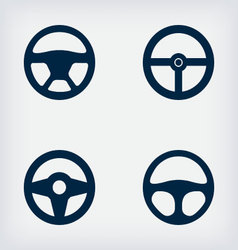 Handlebars automotive icons Steering Wheel vector