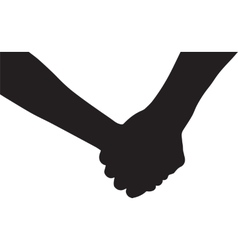 Hands of couple in love vector image
