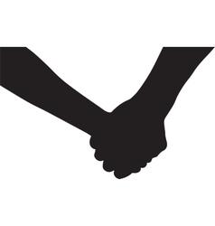 Hands of couple in love vector