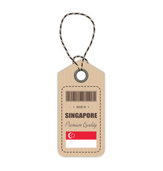 hang tag made in singapore with flag icon isolated vector image