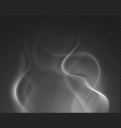 Hot steam isolated foggy smoke cloud burning vector