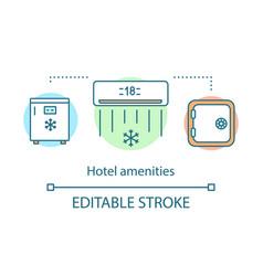 Hotel amenities concept icon vector