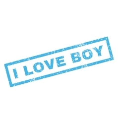 I Love Boy Rubber Stamp vector image