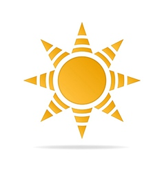 icon of Sun vector image