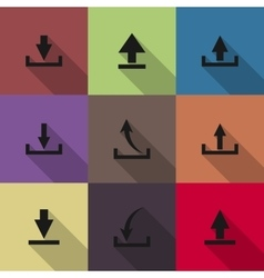 Icons download vector image