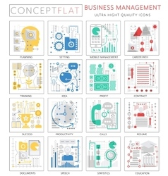 Infographics mini concept Business management vector image