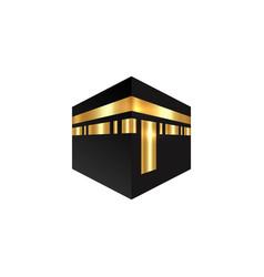 Islamic icon kaaba mosque design isolated vector
