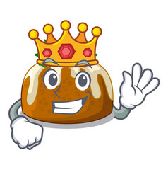 King christmas pudding isolated on the mascot vector