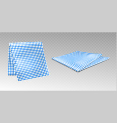 kitchen towel or tablecloth with chequered print vector image