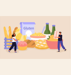 Lactose and gluten free abstract concept vector