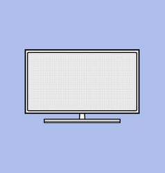 led tv flat icon modern household appliances vector image