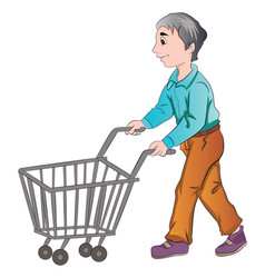 Male shopper vector