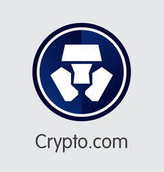 Mco - cryptocom the logo of coin or market emblem vector