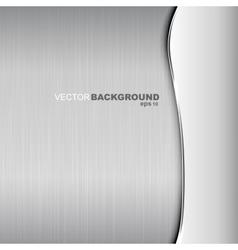Metallic background Polished texture vector image vector image