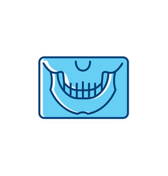 Panoramic x-ray jaw icon dental panoramic teeth vector