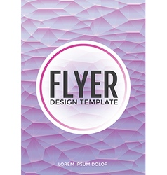 Pastel modern purple polygonal brochure flyer vector