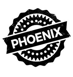 Phoenix stamp rubber grunge vector