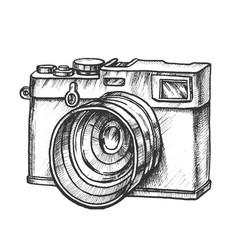 photo camera digital gadget monochrome vector image