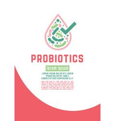 Probiotics poster vector