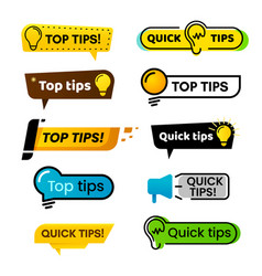 Quick tips idea suggestion tricks solutions vector