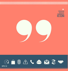 quote symbol vector image vector image