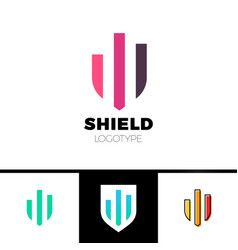 Rate shield secure logo template design vector