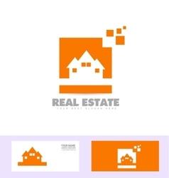 Real estate house logo icon set vector image